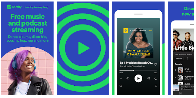 Spotify musik player online android gratis